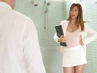 After a meeting Paige Owens gets her pussy banged by a stranger