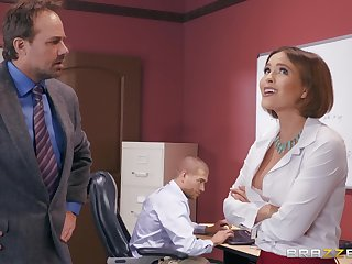 Krissy Lynn wants to fuck with her horny friend in the office