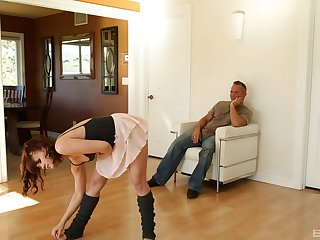 After pussy eating Alison Rey can't wait to jump on a hard penis