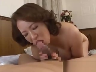 Busty Milf Sucking Young Guy Hairy Pussy Fucked On The Bed In The Room