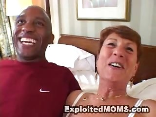 horny mature granny takes BBC in interracial hardcore action