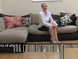 British milf casted on couch with fucking