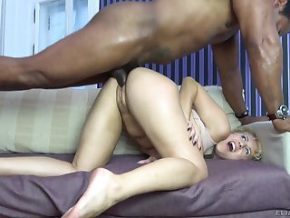 Milf goes wild on a thick black dick