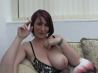 Busty MILF Lexi smoke and tease