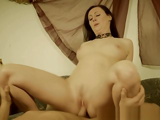 Restrained MILF pussyfucked by maledom