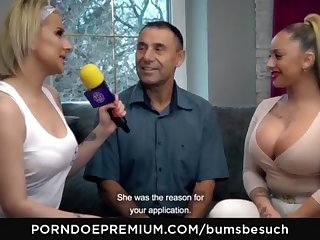 BOOTIES BESUCH - Huge-Chested German pornography starlet Dana Jayn tears up mature inexperienced fanboy