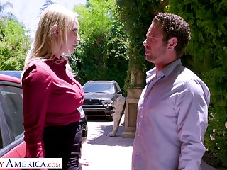 Whore wife Vanessa Cage is cheating on her husband with handsome nextdoor dude