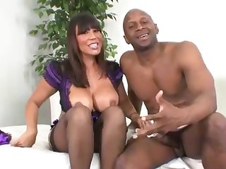 A big-titted Thai babe gets pounded by a black man