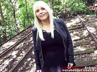 German chubby housewife milf pick up n outdoor fuck