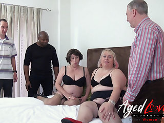 Horny Mature Sluts Orgy - Three Guys versus Two Raunchy Ladies