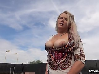 Bosomy mother I´d like to fuck Enjoys Copulation In Toilet - hard core