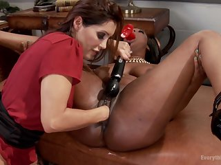 After lesbian fisting and licking Lisa Tiffian is ready for strong orgasm