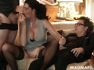 Horny nerdy German buddy Conny Dachs gonna fuck the shit out of sexy hoe