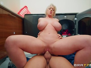 Mature with huge boobs, insane hard sex with a younger hunk