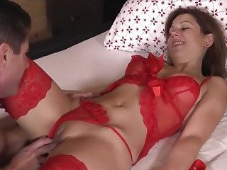 Sexy British wife in lingerie