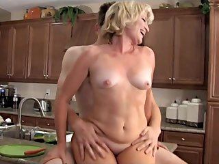 Horny Mommy Fucks With Her Son Best Friend