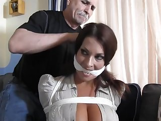 Busty submissive MILF tied and punished in bondage - fetish