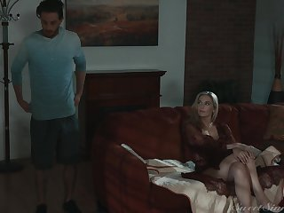 MILF stepmom makes an interest in her stepson's cock very clear