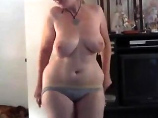 Chubby blonde strips