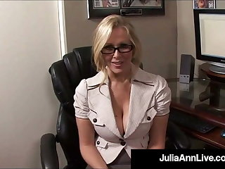 Office Fantasies With Horny Milf Julia Ann & A Big Hard Cock