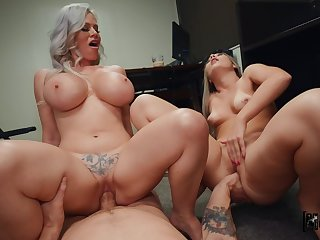 What a great mom and daughter cock sharing special
