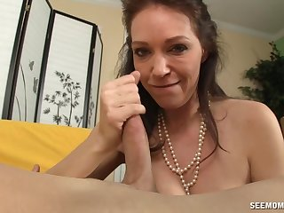 Let auntie suck that dick and swallow your load
