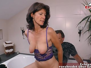German mature cougar seduced younger guy