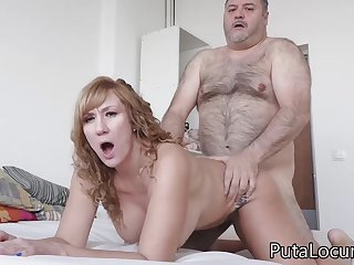 Latina MILF Katerina gets fucked by obese freak daddy