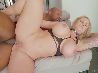 Cougar throats and licks balls before putting the BBC in the ass