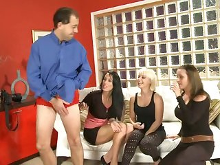 Dude with the smallest pecker gets laughed at by Jessica Rae and hotties
