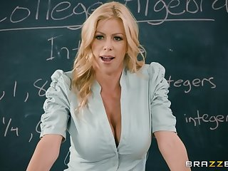 Hot female teacher shares a dick with her best student