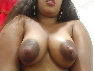 Sherezade milks her tits and masturbates - Latina in lactation fetish