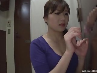 First gloryhole porn play for this hot Japan wife