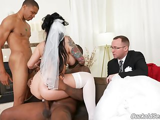 Bride gets blacked on her wedding day