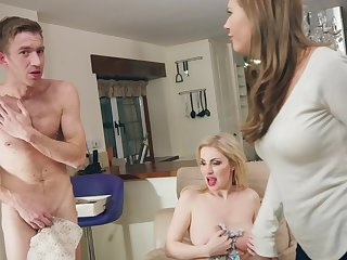 Liberality blonde works over sized cock in strong modes