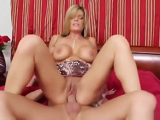 Seductive golden-haired MILF Kristal Summers getting drilled very hard