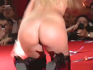 Busty Milf Stripping On Stage