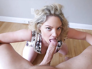 Waking up very busty blond stepmother with my alarm one-eyed snake