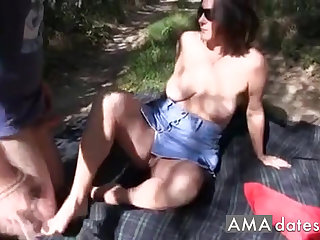 Favorite swinger wife takes it on the face instead of in her pussy.
