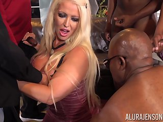 Busty Alura Jenson gang banged by multiple big black cocks