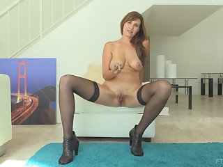 MILF Alice can't get enough of her monstrous dildos