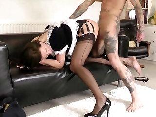 Glamorous mature maid gets fucked