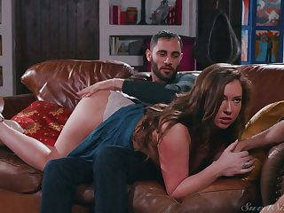 Sexy nympho Maddy Oreilly cheats on her BF by riding strong boner cock