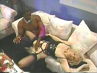 Melanie Moore - Tall blonde romantic sex with black man