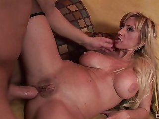 Tight asshole of blonde MILF Regan Anthony fucked and creampied