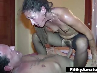 Assfuck lover eat the hoochie-coochie hairy! double fucking passion for the milfs!