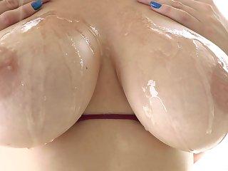 Busty slut goes wild on a pretty big dick
