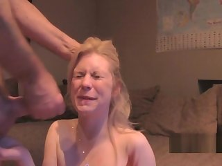 Milf got facial then fucked again
